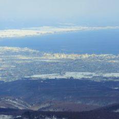 青森県の県庁所在地青森市の風景写真