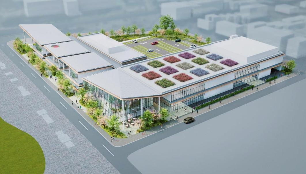 草加松原団地近隣型商業施設街区の完成予想図