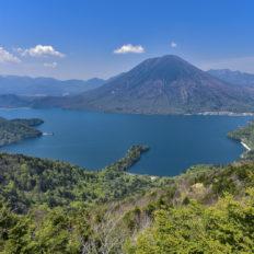 栃木県日光市の中禅寺湖の風景写真