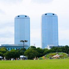 千葉県千葉市の幕張新都心の風景写真