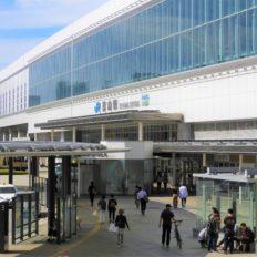 マリエとやまのある富山駅南口の風景写真