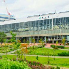 旭川市の旭川駅周辺の風景写真