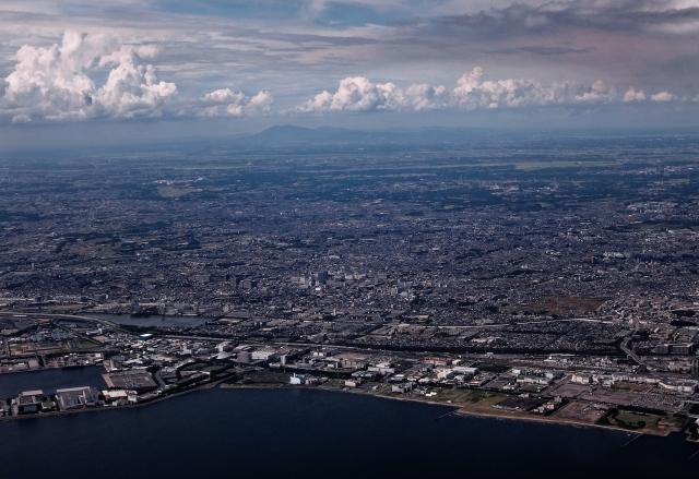 船橋市周辺の空撮写真
