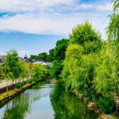 倉敷市の美観地区の風景写真