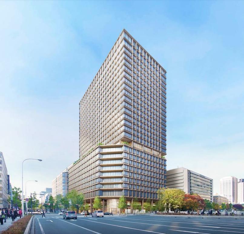 淀屋橋駅西地区第一種市街地再開発事業の完成予想図外観