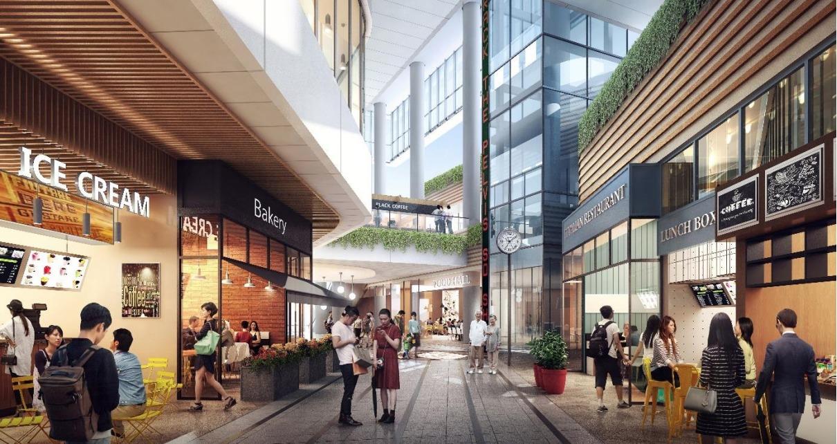 大宮駅西口第3-A・D地区第一種市街地再開発事業の完成予想図イメージ内観