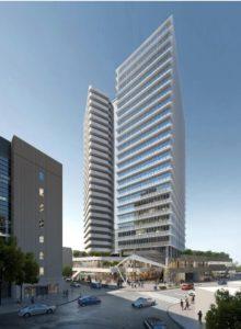 大宮駅西口第3-A・D地区第一種市街地再開発事業の完成予想図イメージ