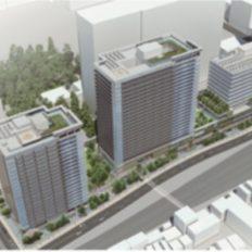 囲町東地区第一種市街地再開発事業の完成予想図イメージ