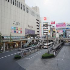 八王子市の八王子駅前の風景写真
