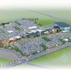 伊達市のイオンモール北福島の完成予想図(構想段階)