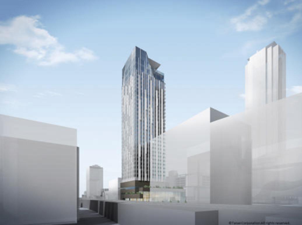 大阪難波のセンタラ・ホテル&リゾートの完成予想図イメージ