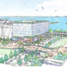 有明のコナミ複合施設の完成予想図イメージ