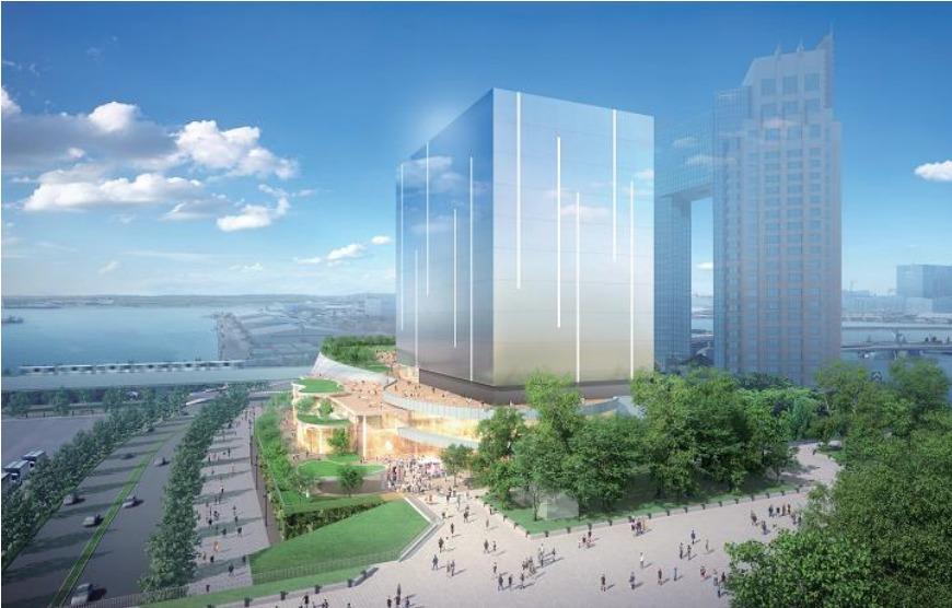 有明のテレビ朝日複合施設の完成予想図イメージ