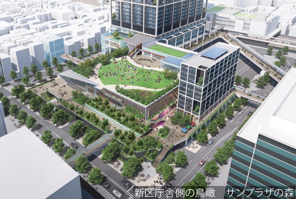 中野サンプラザシティの完成予想図3