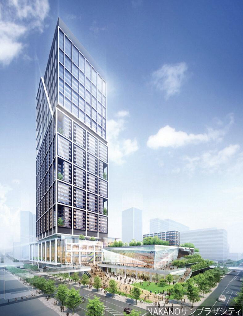 中野サンプラザシティの完成予想図2