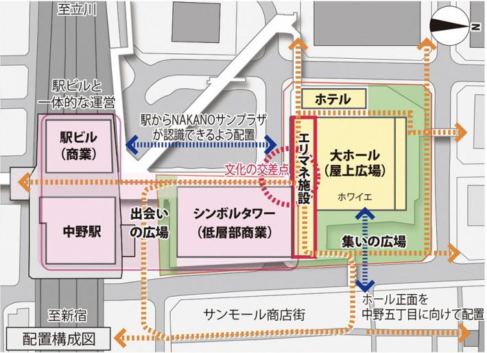 中野サンプラザシティの平面構成図