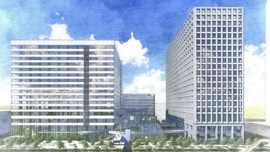 豊洲4-2 街区開発計画の完成予想図