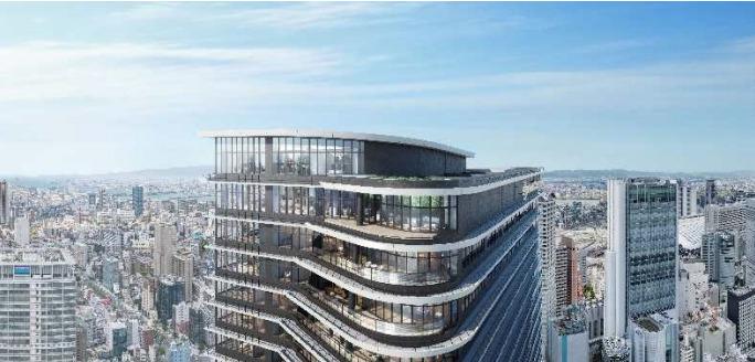 ブリリアタワー堂島&フォーシーズンズホテル「ONE DOJIMA PROJECT」の完成予想図
