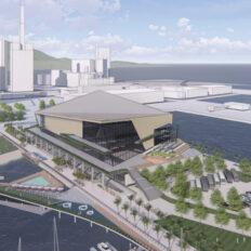 「新港突堤西地区(第2突堤)再開発事業」の完成予想図イメージ