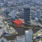 北仲通北B-1地区開発計画は2027年完成予定。日新や東急不動産等が再開発に参画。