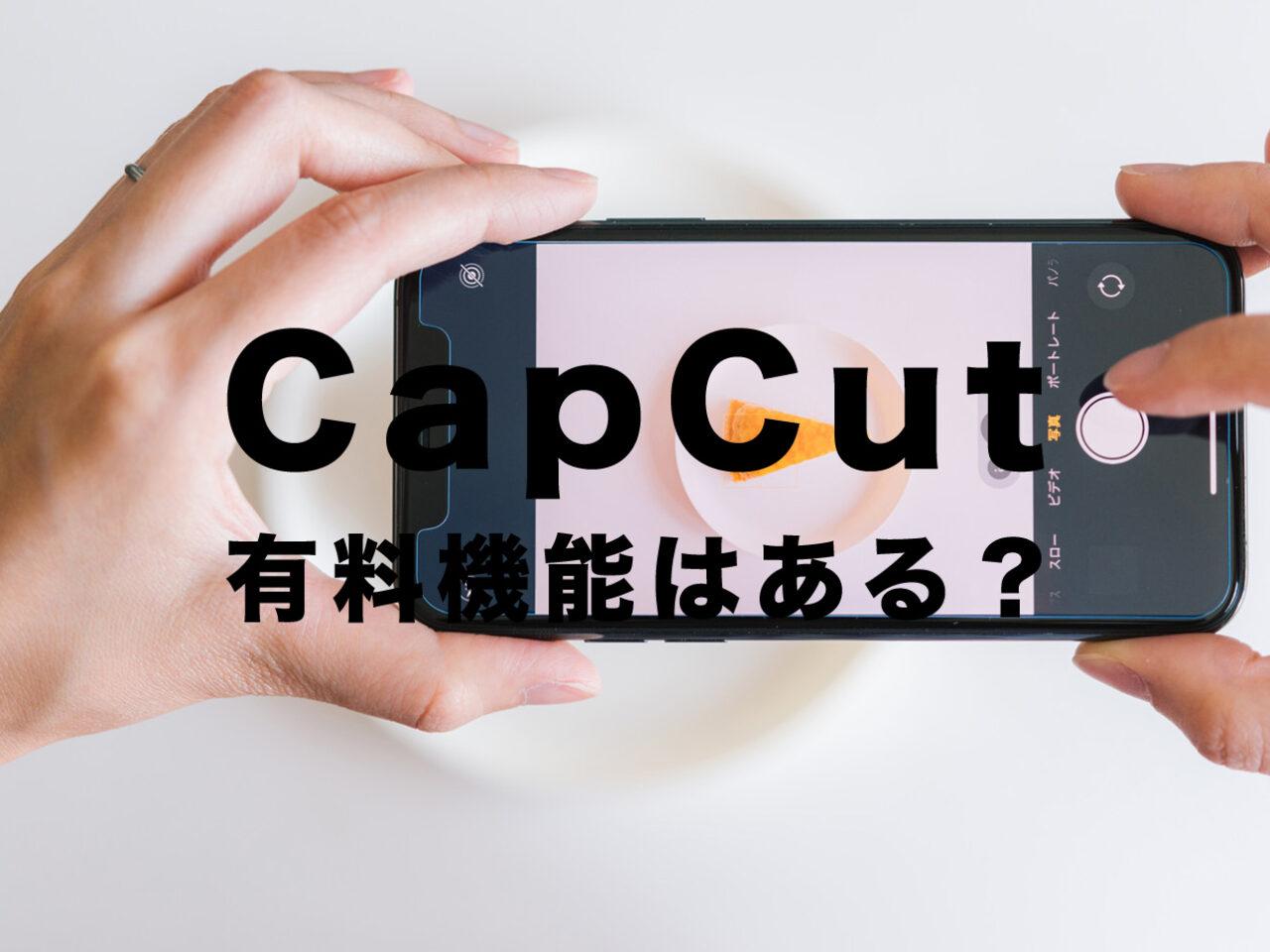CapCut(キャップカット)に有料機能はある?無料で使える?課金は必要?のサムネイル画像