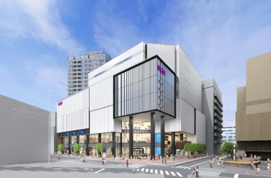 イオンモール横浜西口の完成予想図