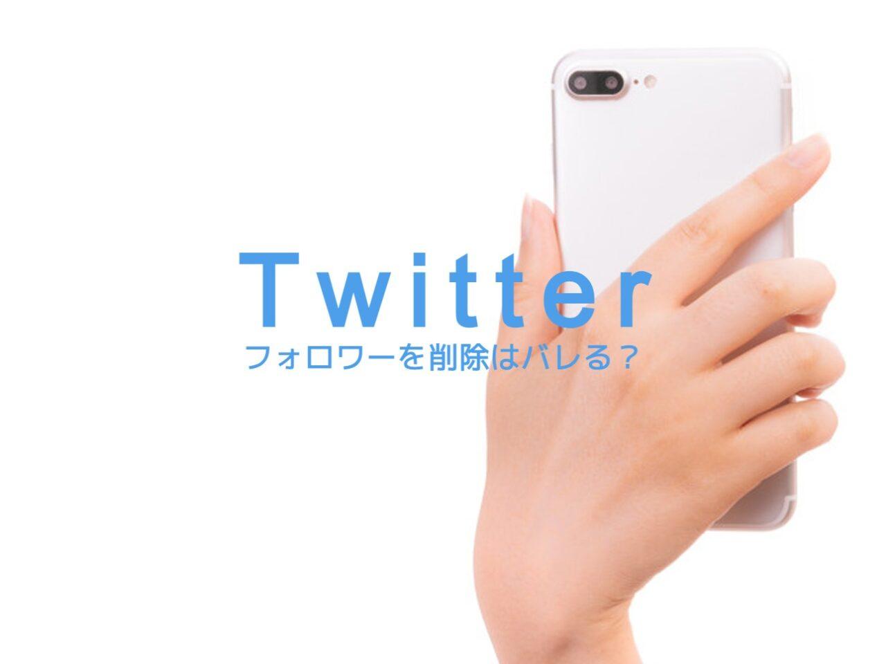 Twitterのフォロワーを削除(ソフトブロック)はバレる?相手に通知でわかる?のサムネイル画像